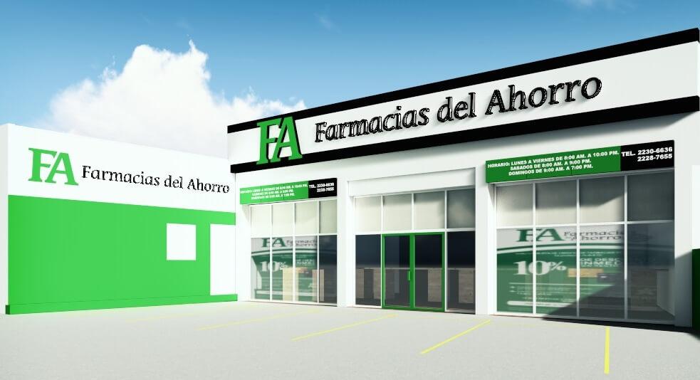 Diseño Fachada Farmacias Del Ahorro