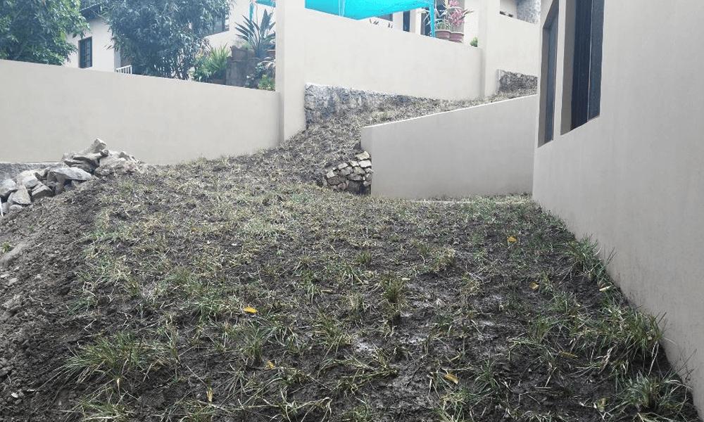 Engramado en residencia muro y gradas Grupo Proteger - 2